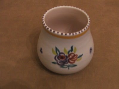 60's VINTAGE POOLE POTTERY HAND PAINTED FLOWER VASE EXCELLENT CONDITION