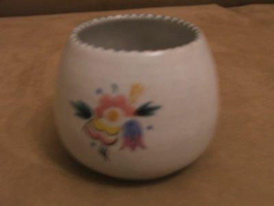 30's VINTAGE POOLE POTTERY HAND PAINTED OPEN SUGAR BOWL EXCELLENT CONDITION