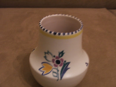 60's VINTAGE POOLE POTTERY HAND PAINTED RF PATTERN VASE EXCELLENT CONDITION