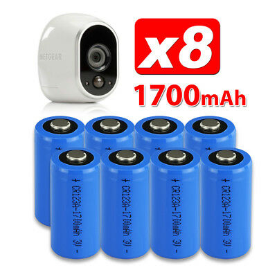 8X CR123A 3V Battery for Netgear Arlo Security Camera VMS3330 3430 3230 3310 OZ