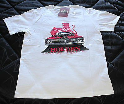 Holden Mens HT GTS Monaro White Printed Short Sleeve T Shirt Size XL New