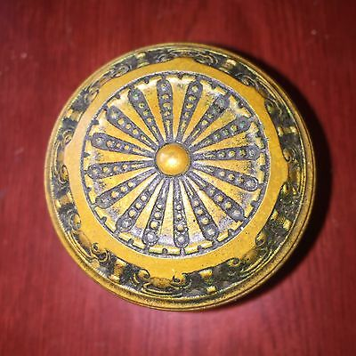 Antique F C Linde Victorian Concentric Symmetric  Brass Door Knob.