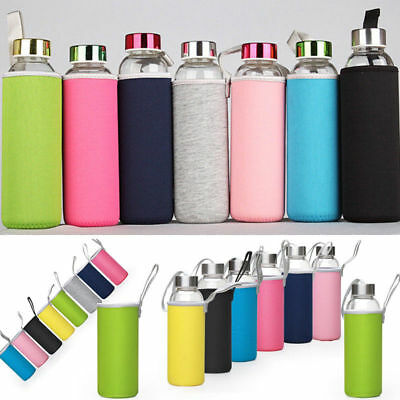 420-550mL Sport Water Bottle Cover Neoprene Insulated Sleeve Bag Case Pouch
