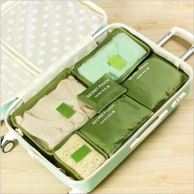 6Pcs Waterproof Travel Clothes Storage Bags Luggage Organizer Packing Cube USA