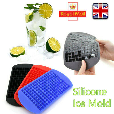 Silicone 160 Cavity Mini Square Ice Cube Tray Maker DIY Mold Mould Beer Juice UK