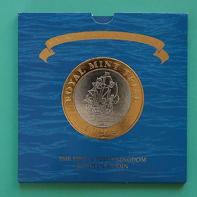 1994 Royal Mint Trial Coin First UK Bi-Coloured Coin Full Package £2 two pound