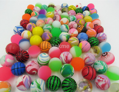 Novety 10*Bouncy Balls Rubber Bouncing Colourful Super Jet Ball Kids Party Gift