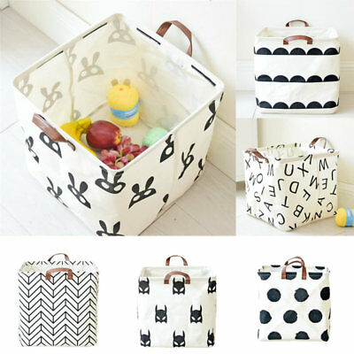 Storage Box Household Organizer Cube Bins Toy Clothes Book Basket Container Desk