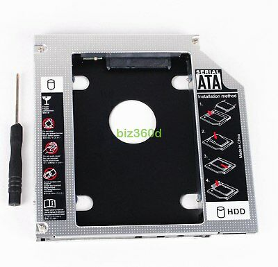 2nd Second HDD Hard Drive Caddy For HP Elitebook 8460p 8470p 8560p 8570p 8760p