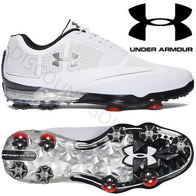 Under Armour 2017 Mens Tour Tips Waterproof Golf Shoes - White/Silver