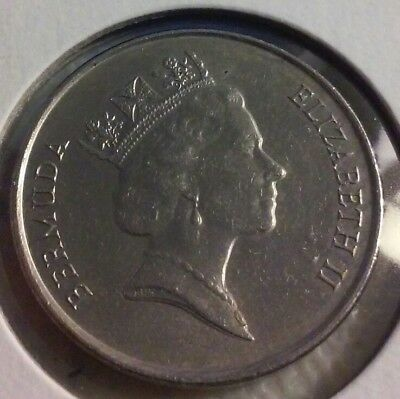 1994 Bermuda 5 Cents Coin  - Angel Fish     (#JU1204)
