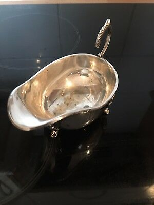 Antique  EPNS Sauce Boat Silver Plate on copper-Sheffield England 1900-1930's