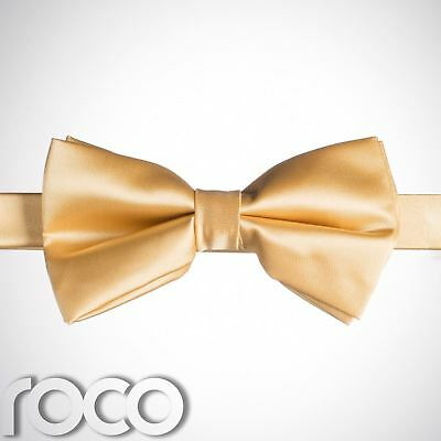 Boys Gold Banded Dickie Bow Tie Wedding Prom Page Boy Dickie Bows