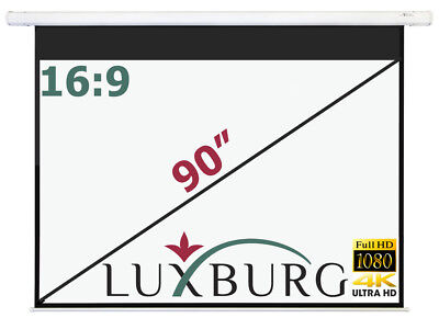 "Luxburg® 90"" 203x115 cm 16:9 Full HD 3D Electric Motorised Projector Screen"