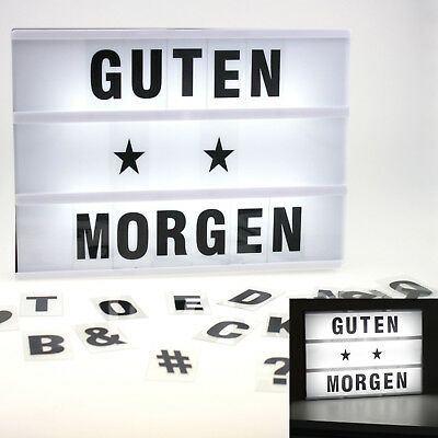 leuchteschild inkl batterien led box leuchtkasten buchstaben lightbox werbung eur 12 90. Black Bedroom Furniture Sets. Home Design Ideas