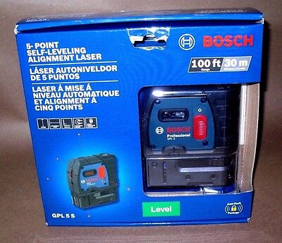 Bosch GPL 5 S Self leveling Alignment Laser 5 point 100 FT 30m