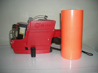 New Pricing Gun (2) Line10X10 digit MX-6600 &Red labels