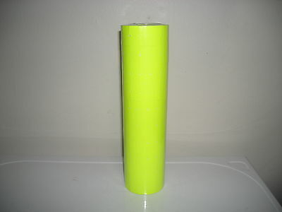 17,000 FL- Yellow Labels for Monarch 1110 (16) Rolls,1 ink roller,Free ship!!