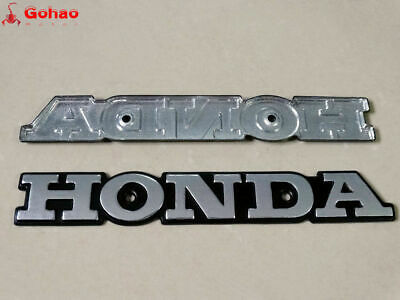 Silver Metal Emblem Gas Tank Badge 2x for Honda Super Sport CB CB550 CB650 CB750