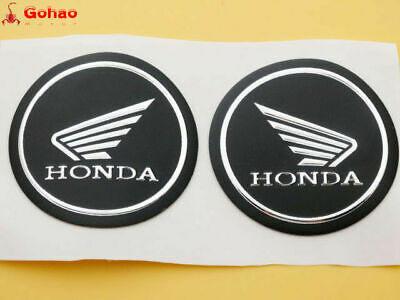 Tank Fairing Round Sticker Badge Emblem for Honda Wing Gel Rubber Silver 55mm