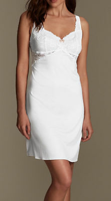 Ex M&S Lace Slip with Cool Comfort White Loose Slips New UK18