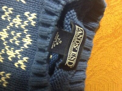 Lands End Boys Size 7-8 Holiday Sweater