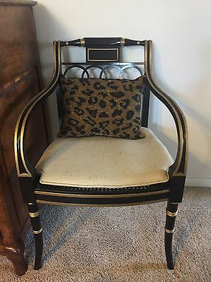 Baker - Historic Charleston Collection, Chair - Black and Gold, Regency Style