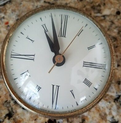 Vintage SESSIONS CLOCK  Face & Mechanism for PARTS