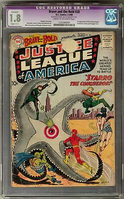 Brave & The Bold #28 CGC 1.8 (C-OW) 1st Justice League Appearance