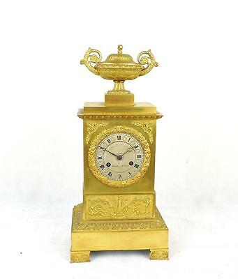 19th C French Gilt Ormolu Mantel Clock