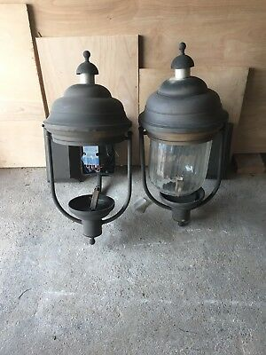 Pair of Architectural Building Light LAMP SALVAGE Fixtures