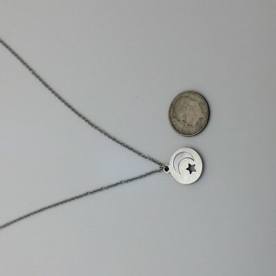 stainless steel trendy Solar Eclipse inspired pendant with free Necklace