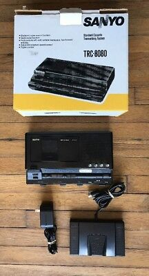 SANYO TRC-8080 Standard Casette DictatingTranscriber w Foot Pedal Tested