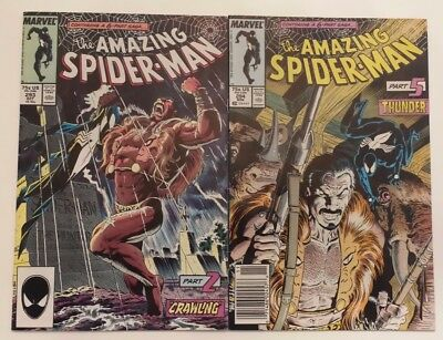 Amazing Spider-Man #293 & 294 (Kraven's Last Hunt!!! Part 2 & 5)