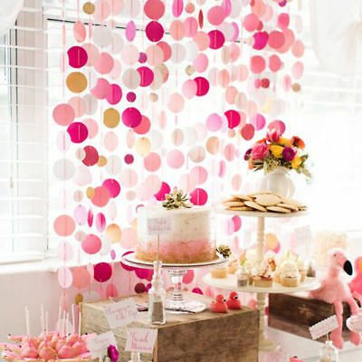 Glitter Paper Birthday Party Hanging Bunting Banner Flag Baby Shower Party Decor