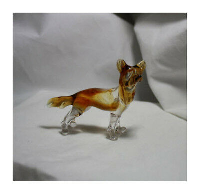 Art Blown Glass Murano Figurine Glass Dog Chinese Crested