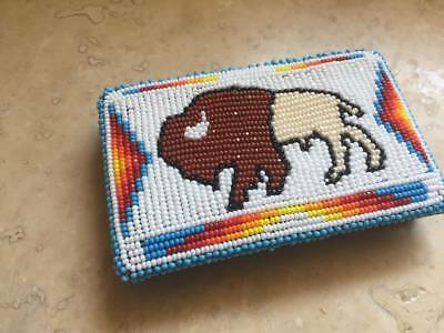 Native American Beaded wallet Shoshone Bannock tribal regalia pow wow Buffalo