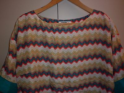 Missoni Target Summer Silk Tunic Size 16 Good Condition