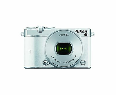 Nikon 1 J5 Mirrorless Digital Camera w/ 10-30mm PD-ZOOM Lens (White) W... NO TAX