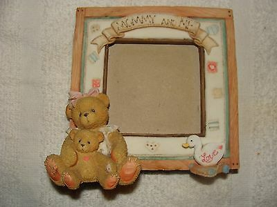 """CHERISHED TEDDIES 1995 """"Mommy and Me"""" Easel Style Photo Frame"""
