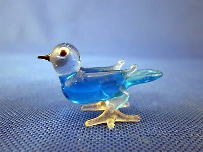 Art Glass Blue Bird Miniature