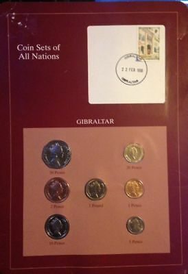 Franklin Mint - Gibraltar 1988-1995 Penny-Pound 7 Coins