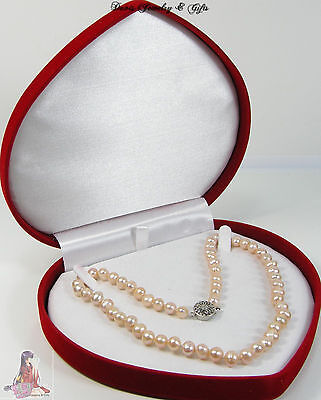 Black Velvet Jewelry Box Black Necklace Gift Box XL Necklace Pearl Gift Box