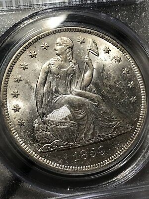 1859-O Seated Liberty Silver Dollar. Pcgs Ms62 Rare Collector Coin