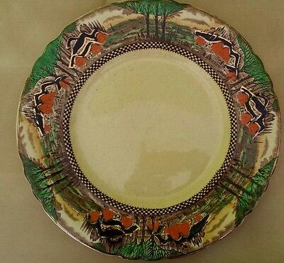 Myott Son & Co Art Deco England's countryside dinner plate