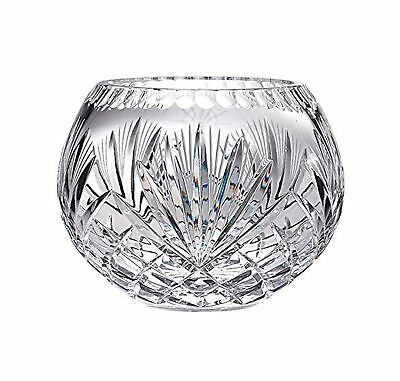 Majestic Gifts Hand Cut Crystal Bowl 8-Inch Rose NO TAX