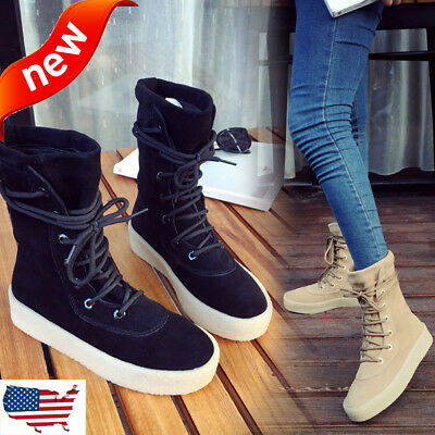 Fashion Women Ladies Casual Handmade Winter Warm Crepe Bottom Solid Women Boots