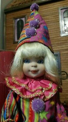"Linda McCall doll by Tonner,Masquerade or Halloween clown,10"" MIB"