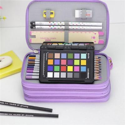 High Capacity Box Stationary Pen Pouch Bag Makeup Storage Bag Pen Pencil Case S