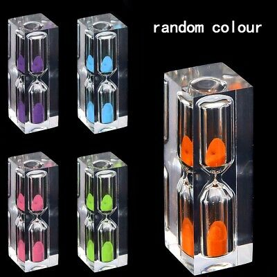 Acrylic 3 Minute Sand Clock Sandglass Hourglass Timer for Tea Cafe Child Gift